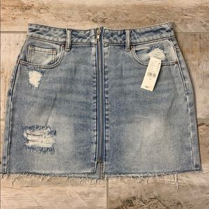 Pacsun Distressed Denim skirt